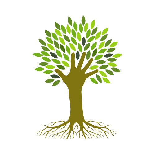 Kezet formáló fa