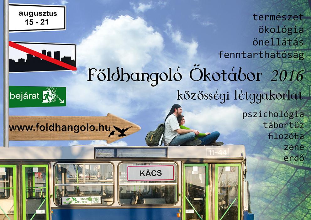 A Földhangoló Ökotábor 2016-os plakátja